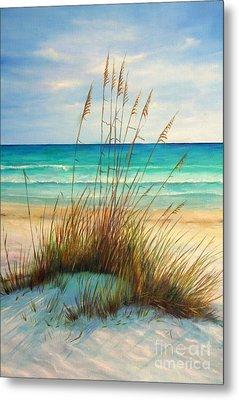 Siesta Key Beach Dunes  Metal Print by Gabriela Valencia