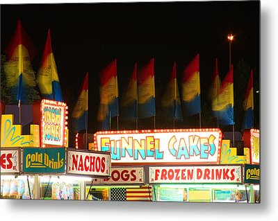 Signs Of Food At The Carnival Metal Print by James BO  Insogna
