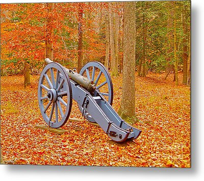Silent Cannon Metal Print by E Robert Dee