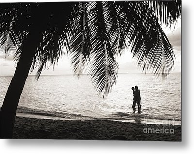 Silhouetted Couple Metal Print by Larry Dale Gordon - Printscapes