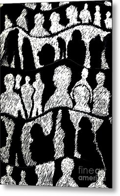 Silhouettes 2 Metal Print by Helena Tiainen