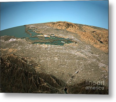 Silicon Valley 3d View Wide Angle Natural Color Metal Print by Frank Ramspott
