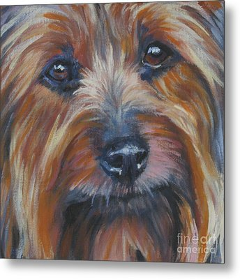Silky Terrier Metal Print by Lee Ann Shepard