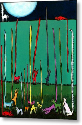 Silly Tall Tales - Er - Tails Metal Print by Angela Treat Lyon