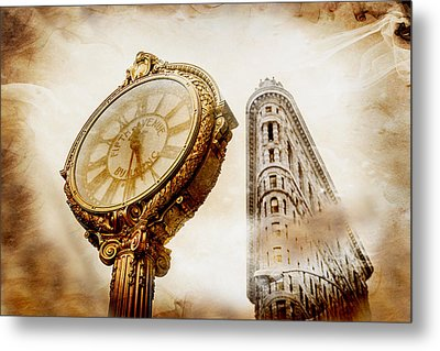 Silver And Gold Metal Print by Az Jackson