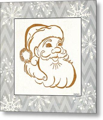 Silver And Gold Santa Metal Print by Debbie DeWitt