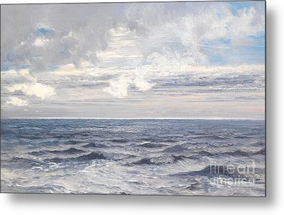 Silver Sea Metal Print by Henry Moore