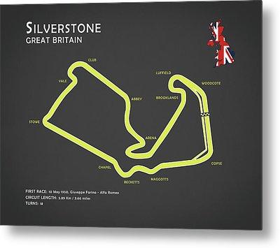 Silverstone Metal Print by Mark Rogan