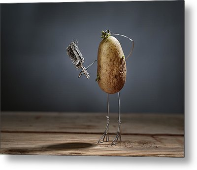 Simple Things - Fading Beauty Metal Print by Nailia Schwarz