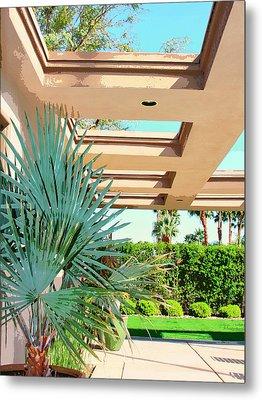 Sinatra Patio Palm Springs Metal Print by William Dey