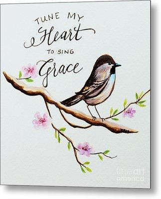 Sing Grace Metal Print by Elizabeth Robinette Tyndall