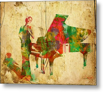 Sing It Baby One More Time Metal Print by Nikki Smith