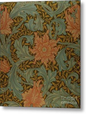 'single Stem' Wallpaper Design Metal Print by William Morris
