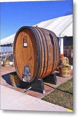 Single Wine Barrel Metal Print by Marian Bell