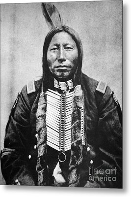 Sioux: Crow King Metal Print by Granger