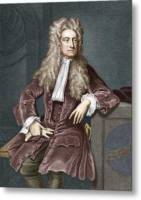 Sir Isaac Newton, British Physicist Metal Print by Sheila Terry
