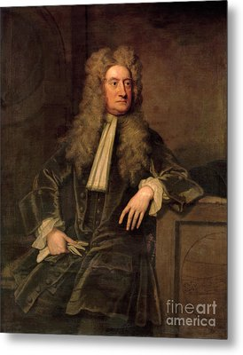 Sir Isaac Newton  Metal Print by Sir Godfrey Kneller