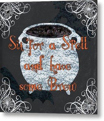 Sit For A Spell Metal Print by Debbie DeWitt