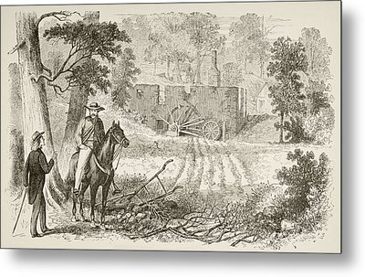 Site Of The Battle Of Gaines  Mill Metal Print by Vintage Design Pics