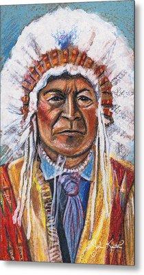 Sitting Bull Metal Print by John Keaton