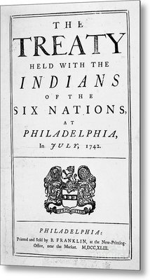 Six Nations Treaty, 1742 Metal Print by Granger