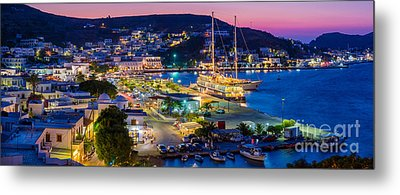 Skala Panorama Metal Print by Inge Johnsson