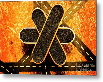 Skateboarding Star Metal Print by Jorgo Photography - Wall Art Gallery