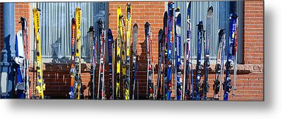 Skis At Vail, Colorado Metal Print by Panoramic Images