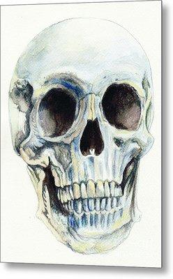 Skull Metal Print by Morgan Fitzsimons
