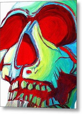 Skull Original Madart Painting Metal Print by Megan Duncanson