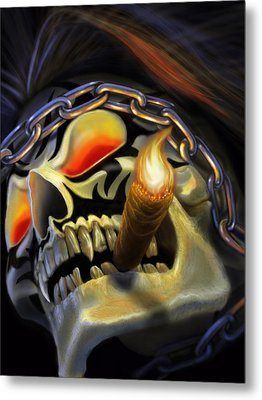 Skull Project Metal Print by Pat Lewis
