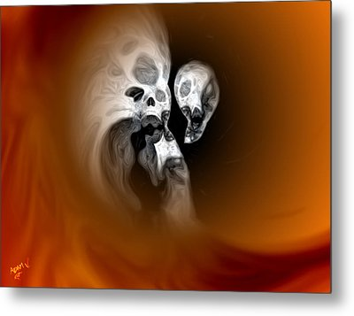 Skull Scope 2 Metal Print by Adam Vance