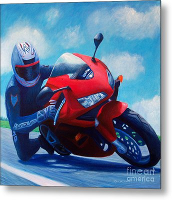 Sky Pilot - Honda Cbr600 Metal Print by Brian  Commerford