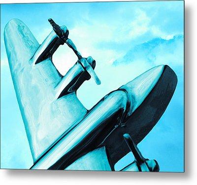 Sky Plane Metal Print by Slade Roberts