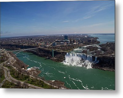 Sky View Of Niagara Falls Metal Print by Bill Cannon