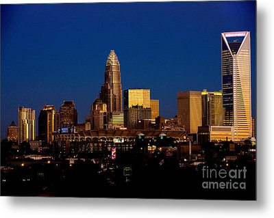 Skyline At Dusk Metal Print by Patrick Schneider