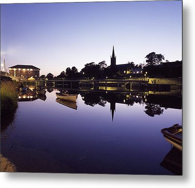 Skyline Over The R Garavogue, Sligo Metal Print by The Irish Image Collection