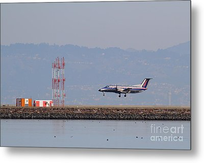 Skywest Airlines Jet Airplane At San Francisco International Airport Sfo . 7d12127 Metal Print by Wingsdomain Art and Photography