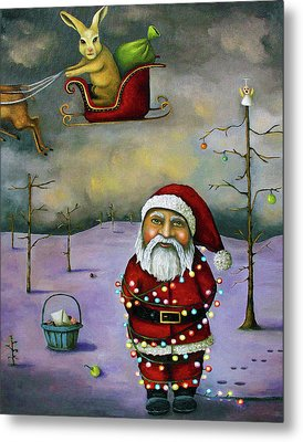 Sleigh Jacker Metal Print by Leah Saulnier The Painting Maniac