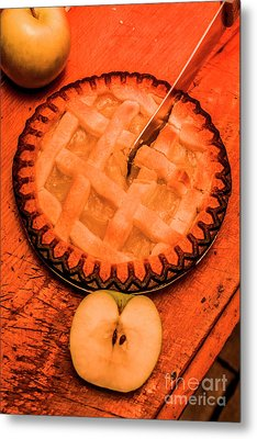 Slicing Apple Pie Metal Print by Jorgo Photography - Wall Art Gallery