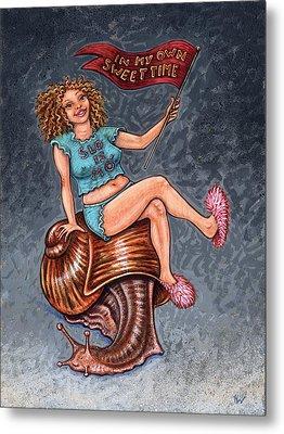 Slo Woman Metal Print by Holly Wood