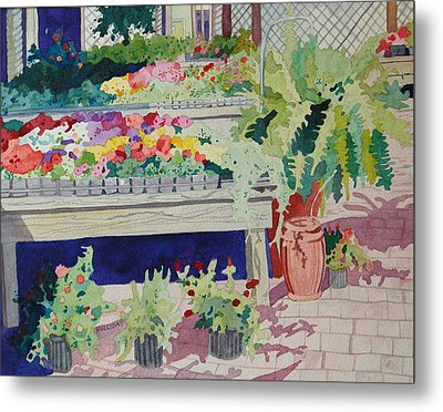 Small Garden Scene Metal Print by Terry Holliday
