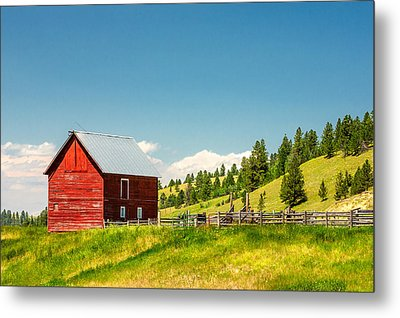 Small Red Shed Metal Print by Todd Klassy