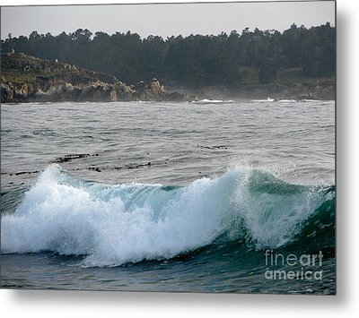 Small Wave On Carmel Bay Metal Print by James B Toy