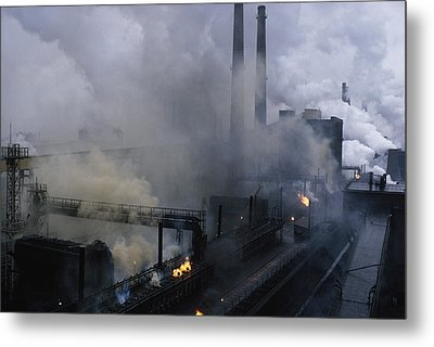 Smoke Spews From The Coke-production Metal Print by James L. Stanfield