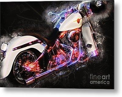 Smoking Hot Hog Harley Davidson 20161102 Metal Print by Wingsdomain Art and Photography