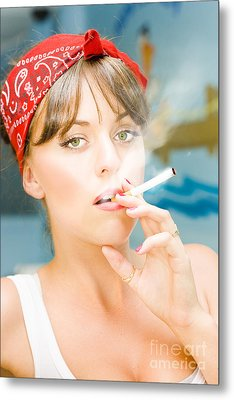 Smoking Metal Print by Jorgo Photography - Wall Art Gallery