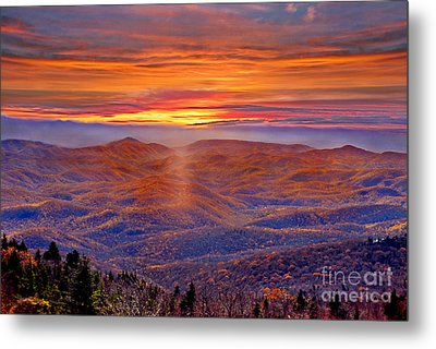 Smoky Mountain Sunrise Metal Print by Jeff McJunkin