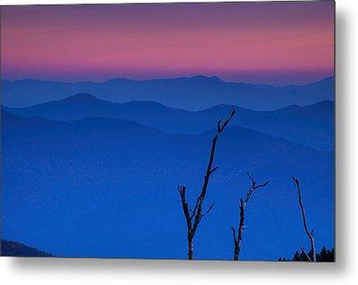 Smoky Mountain Sunset Metal Print by Andrew Soundarajan