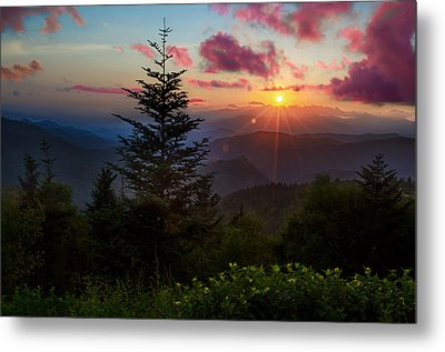 Smoky Mountain Sunset Metal Print by Christopher Mobley